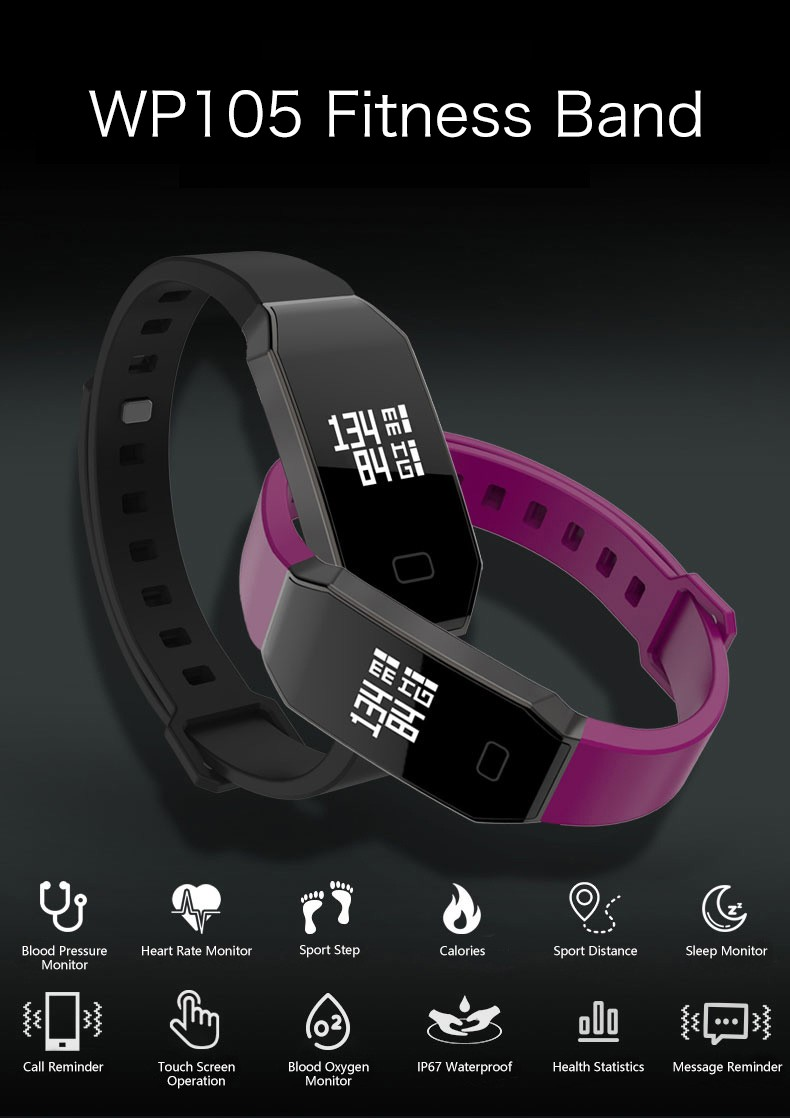 2016 Newest vibrating wristband m26 smartwatch makibes l30t