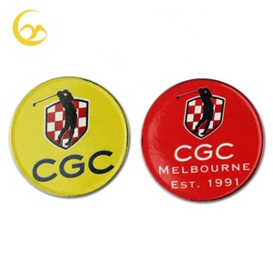Custom unique logo golf accessories ball marker ball golf