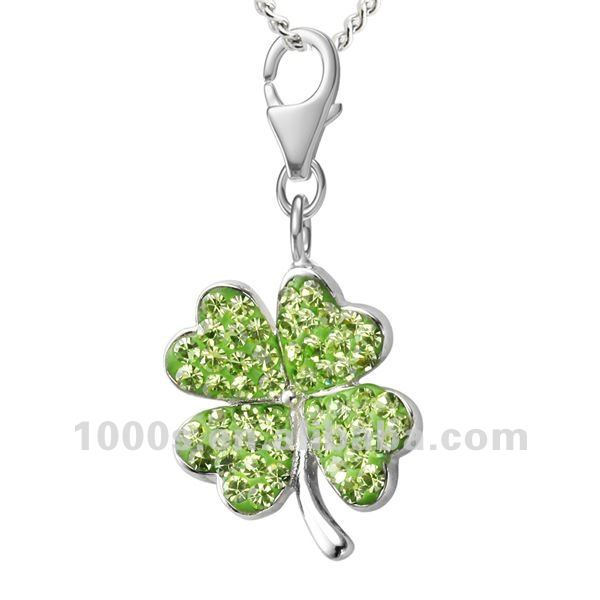 Crystal four leaf clover charm buy charmcharms and pendants crystal four leaf clover charm buy charmcharms and pendantssilver charms product on alibaba mozeypictures Image collections