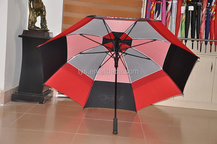 Top Selling Big Strongest Double Canopy Windproof Golf Umbrella