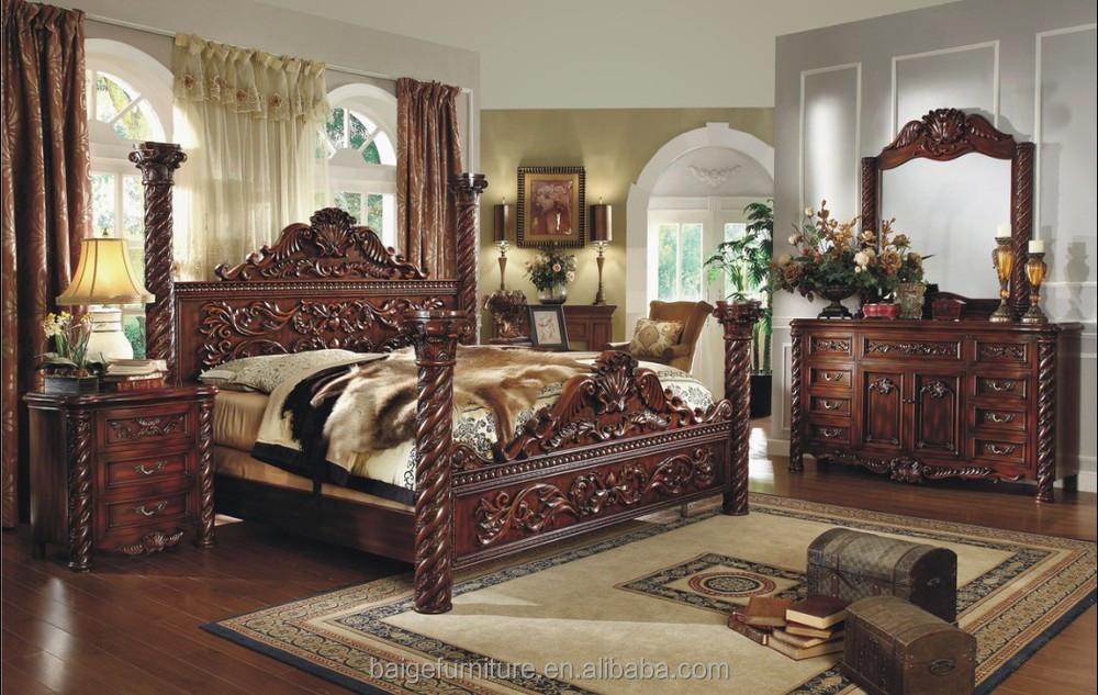 BD 1505 Indonesia Furniture Antique Classic Bedroom Furniture Importer