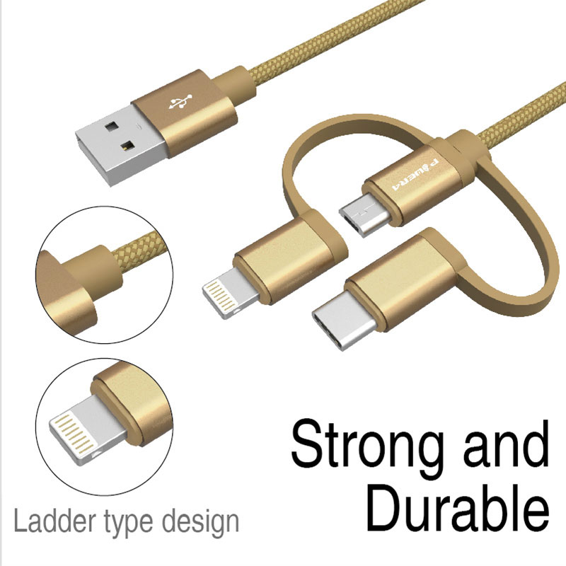 3In1 Multi Use Phone Accessory Mfi Certified 8Pin Usb Ladegerät Datenkabel Für Iphone 6 7 8 X Android