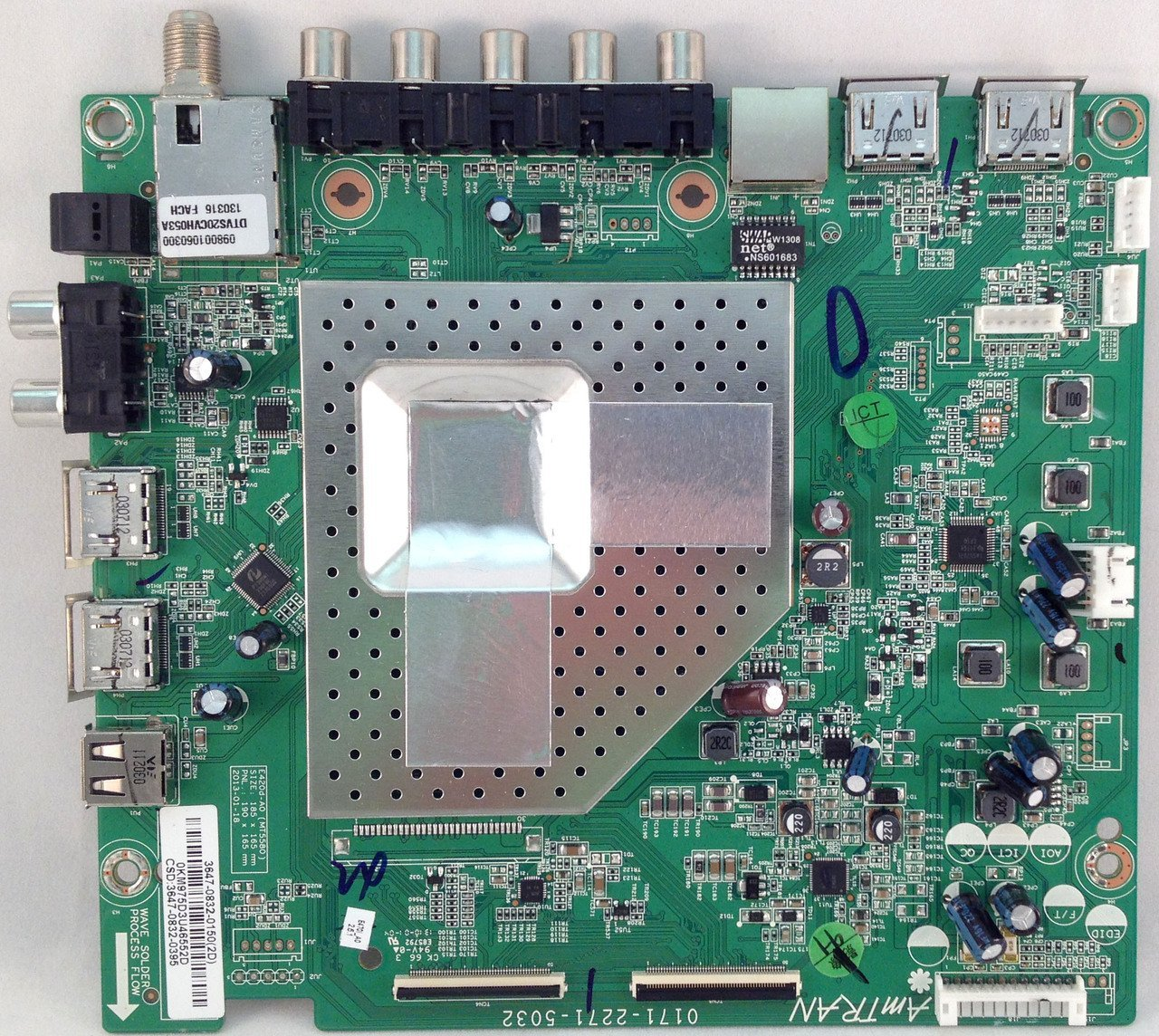 Vizio Main Board 3647-0832-0150 for E470i-A0 (0171-2271-5032)