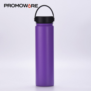 Wholesale 25 oz BPA Free Wide mouth Stainless Steel Custom Sports Water Bottle 750ml Termos Vacuum insulated Water flask