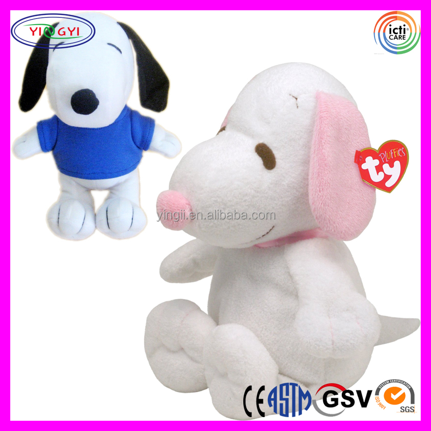 D501 Simple Animal Cartoon Snoopy Stuffed Soft Plush Toy Snoopy With