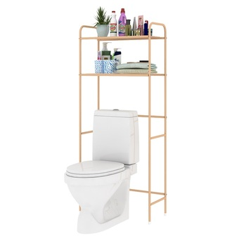 Bath Shelf Over The Toilet Storage Rack For Towel And Paper Bathroom ...