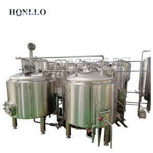 Two vessels water belt cooling carbonator home automated brewery