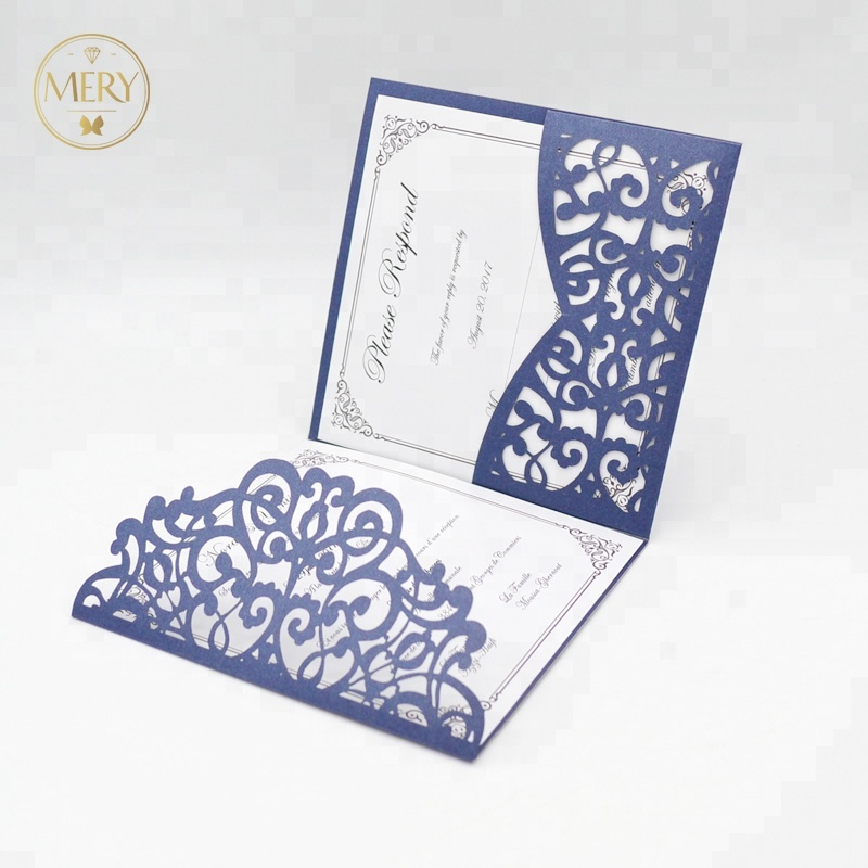 50 pcs new products laser cut white pearl elegant invitation card <strong>wedding</strong> favors party supplies