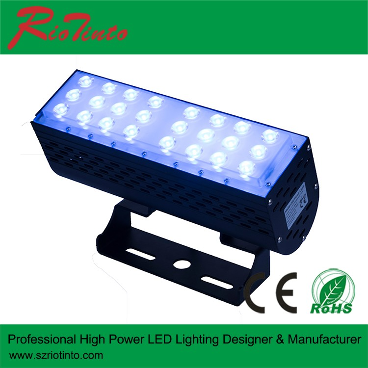 led outdoor lighting led wall washer RGBW Colorful ip67 waterproof led strip light long type for stage/building/outdoor