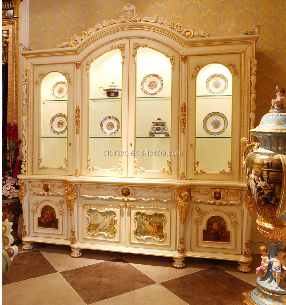 Anime Royal Dining Room: Luxury French Rococo Style Goldleaf Angel Buffet Table