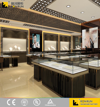Modern Luxury Style Design Jewellery Showcase Gold Display Counter