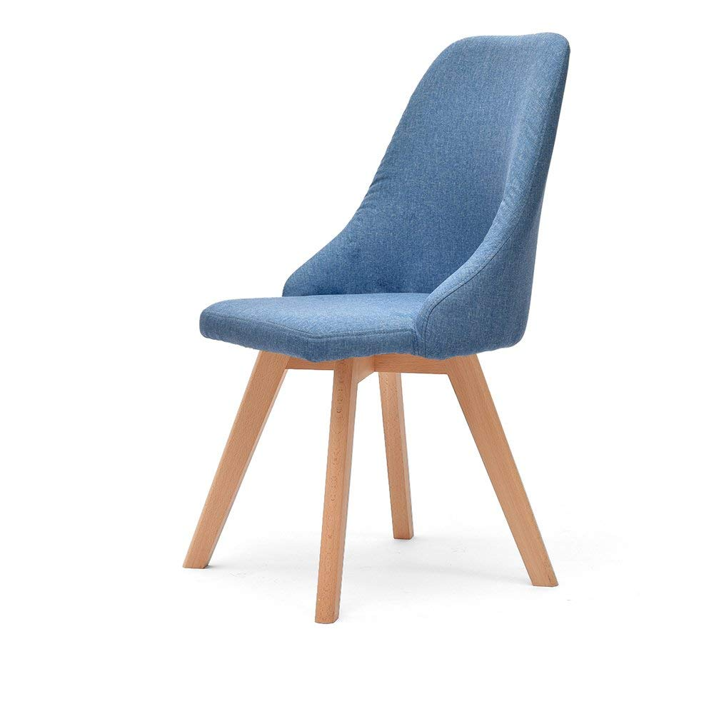 Chair-cotton/cotton backrest chair/Nordic home chair/adult desk chair/simple stool/dining room solid wood dining chair/bar stool/cash register stool (multicolor optional) (Color : 2)