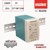 MDR-100 5V 100W Mini small size Din Rail power supply driver 110V/220V AC/DC wide constant voltage smps LED strip CE ROHS