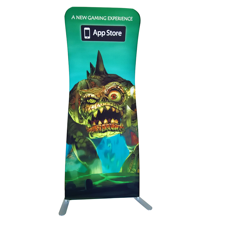 Trade show Tension Fabric Singular Snake Display stand