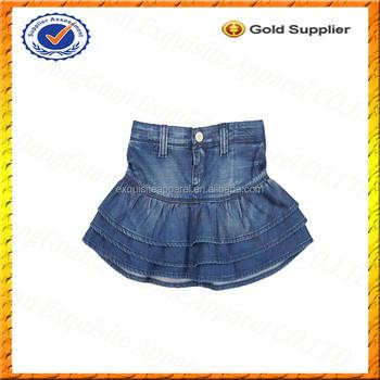 Custom Jeans Short Skirt For Kids Girl Children Denim Skirt Baby