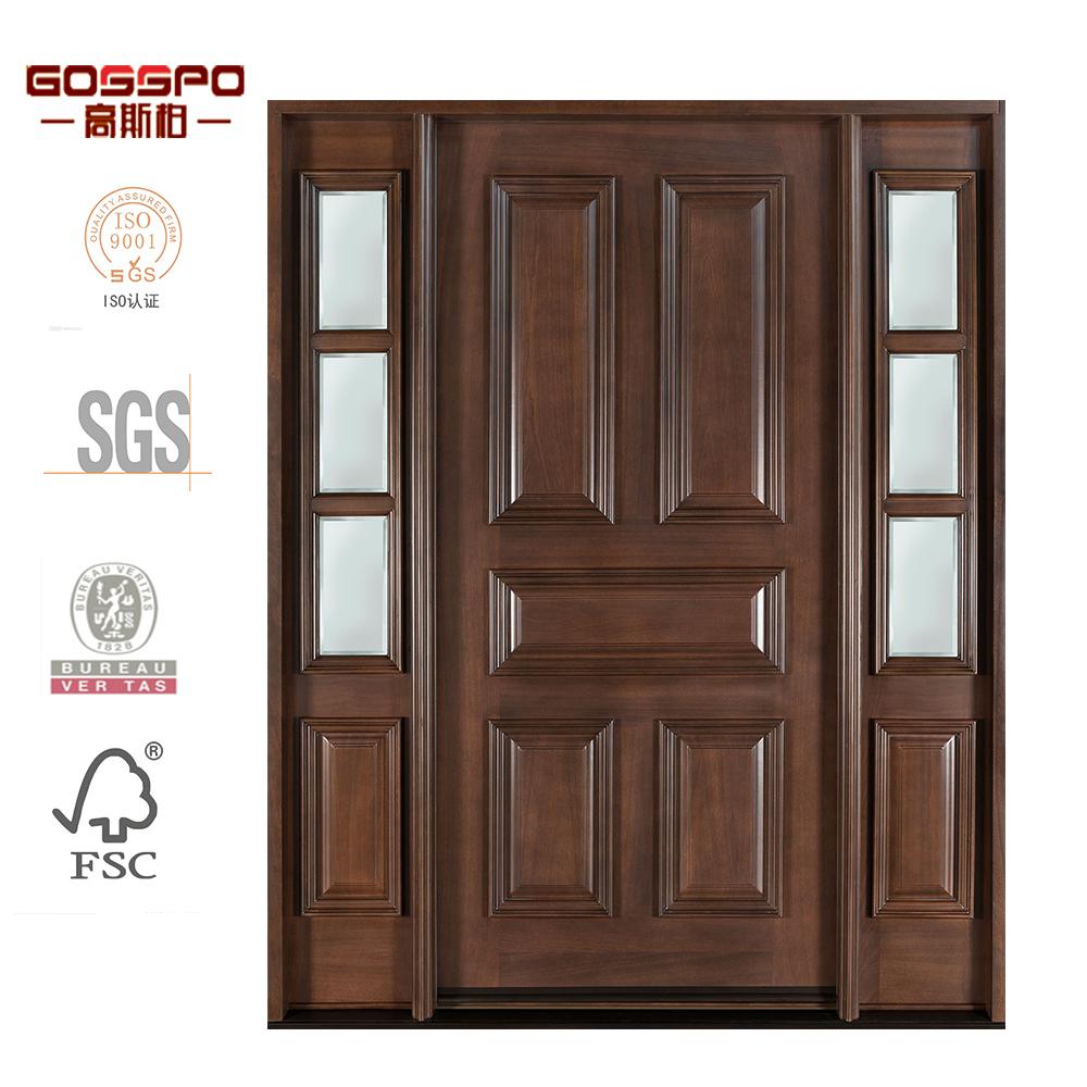 Puertas entrada madera best puerta entrada macisa with for Puertas de entrada con vidrio