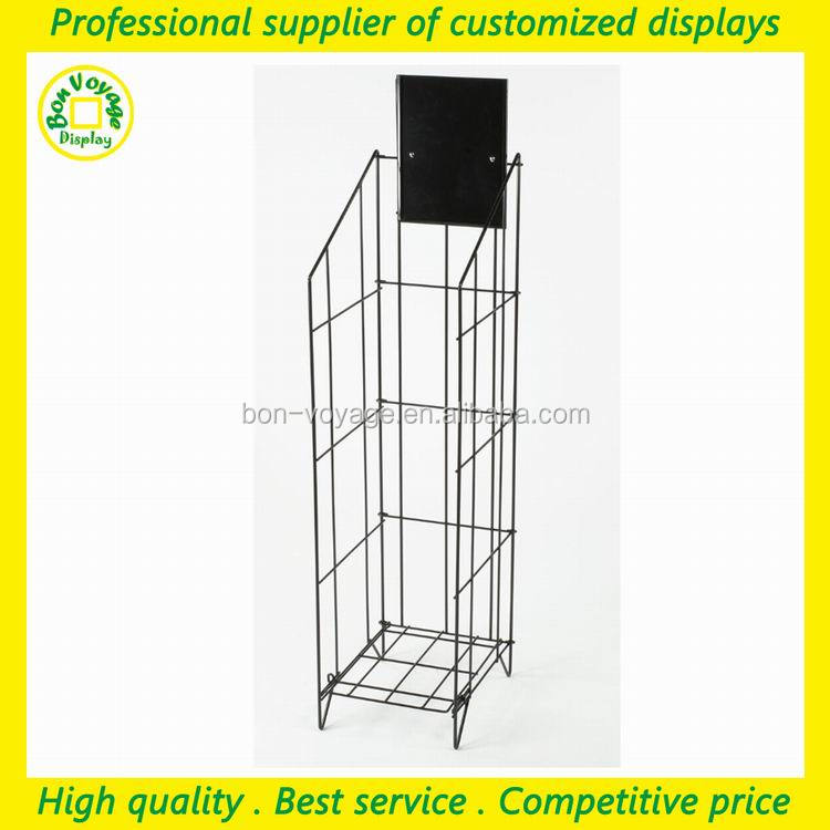 wholesale free stand wire literature organize display rack with header