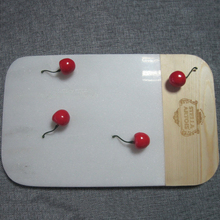 Natural white marble cheese board and marble serving board