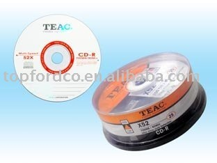 Blank CD Recordable Virgin Polycarbonate Silver Target