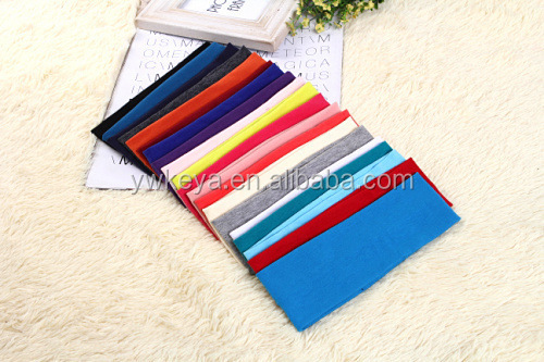 Wholesale 2017 knitted terry cloth cotton bulk sport headbands for sport gym yoga, stretch headbands sports