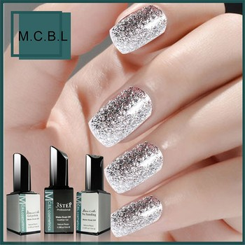 2017 News Nail Art Design Products New Bling Color Platinummetallic