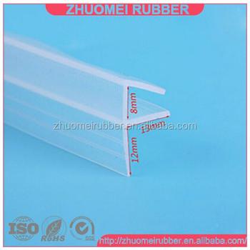 f shape glass shower door seal strip