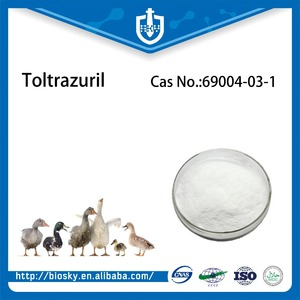 High Quality Veterinary Grade Antibiotics Toltrazuril Powder CAS No. 69004-03-1 Toltrazuril