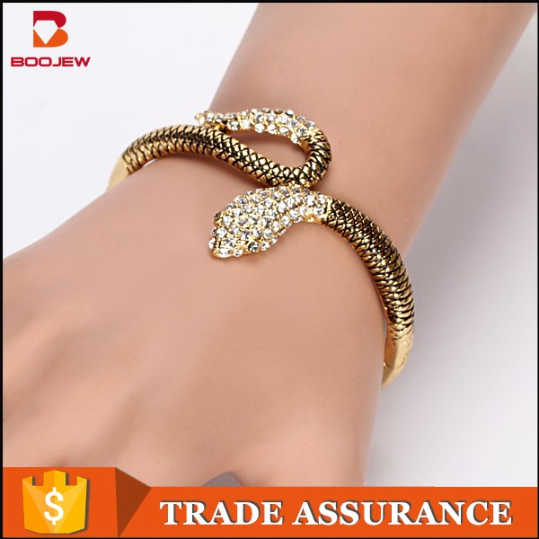 India Alloy New Model Charm Women Jewellry Sex Snake Bangle With Gold  Plating