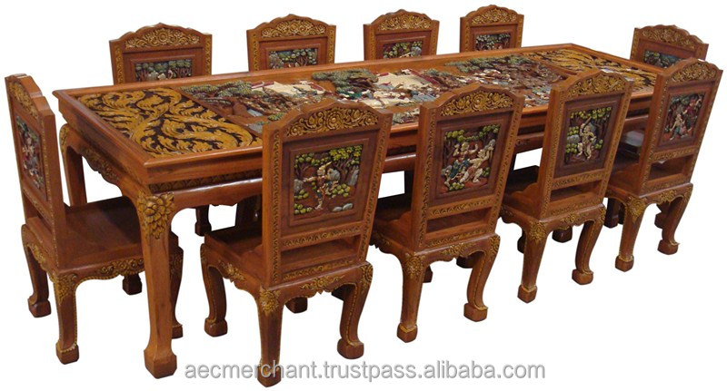 Ramayana Teak Wood Dining Table 10 T Buy Dining Table Product On Alibaba Com