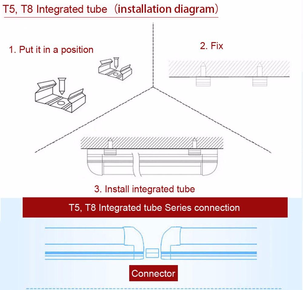 Tube Led T8 1200mm 18w Integrated T5 Light 1ft 300mm 5w 3ft 900mm 13w 4ft 2ft 600mm 9w 85 265v Buy Tubeled Wiring Diagram For