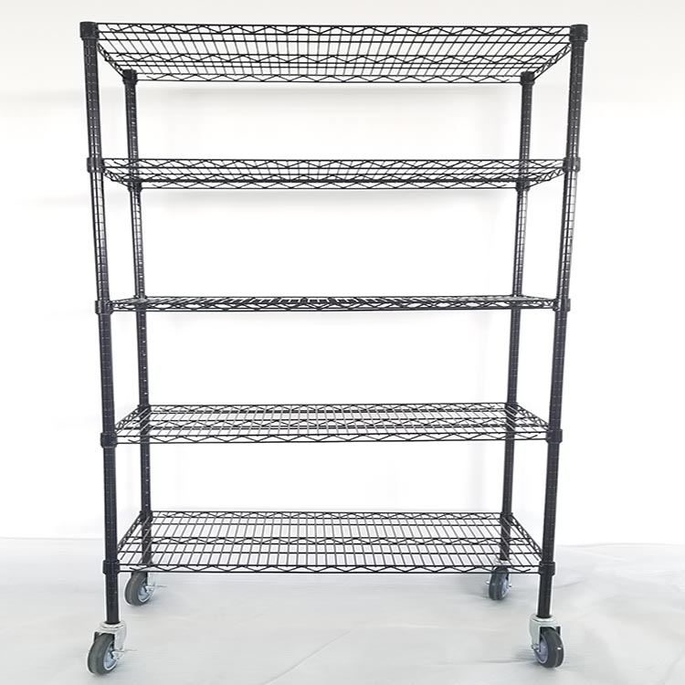Metal rack heavy duty <strong>steel</strong> wire shelf with wheels