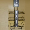 Display stand for battery 3-tier countertop display rack for store