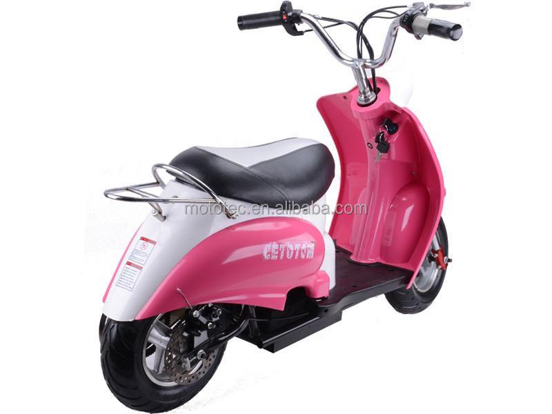 yongkang mototec mini scooter 50cc scooters vespa pocket bike rose couleur enfants scooter. Black Bedroom Furniture Sets. Home Design Ideas