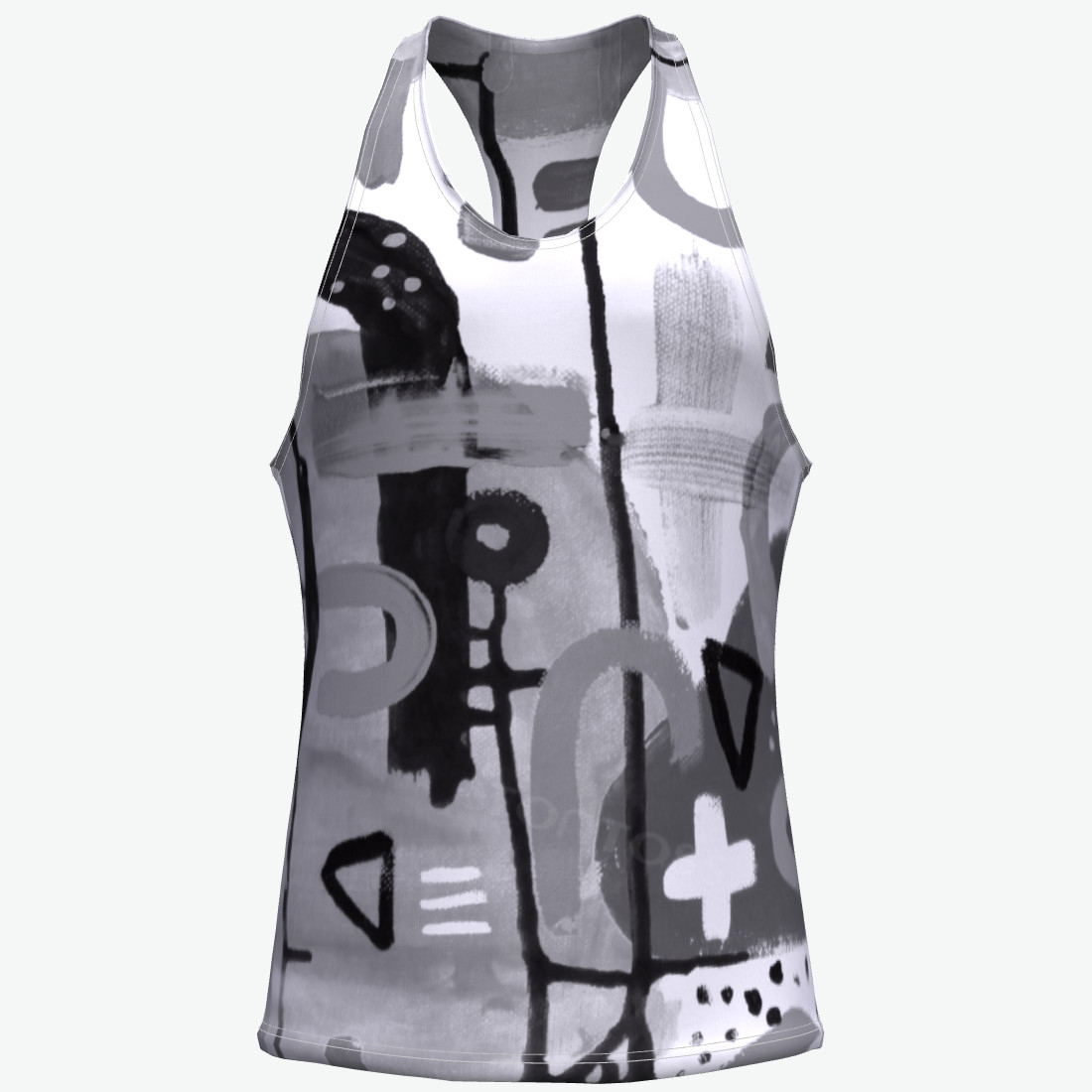 Competitive Price custom Run printing in bulk plain gym tank tops fur vests from china