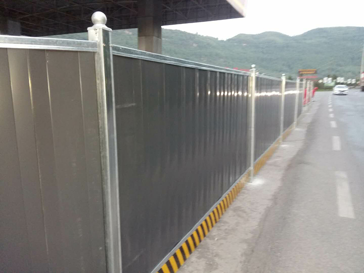 Corrugated Construction Site Steel Hoarding Temporary Fence