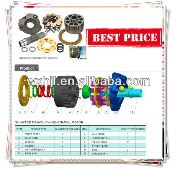 KAYABA MAG-33VP hydraulic piston pump parts