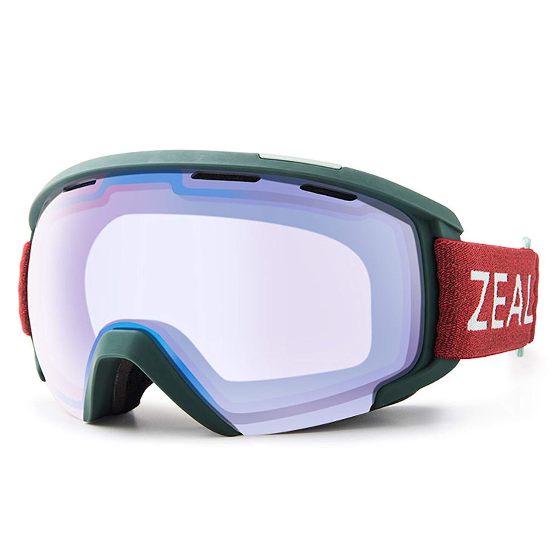18e0d6f9cf3 Get Quotations · Zeal Unisex SLATE  Snow Goggles (Frame  Juniper Green   Lens  Sky Blue
