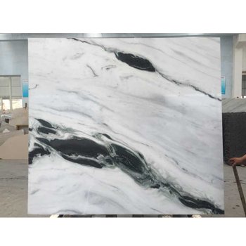 Exotic Black Panda White Marble Slabs With Book Matched Pattern