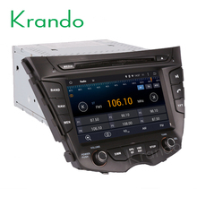 Krando Android 7.1 car radio navigation system for hyundai veloster 2011 2012 2013 2014 + dvd player multimedia KD-HY814