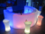 illuminated Hollow plastic led curved bar table  KTV furniture bar counter bar furniture with lighting