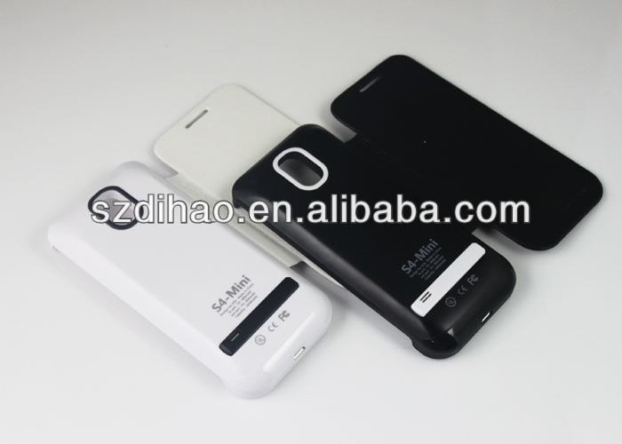 Flip Cover Battery charger Case for Samsung Galaxy S4 Mini