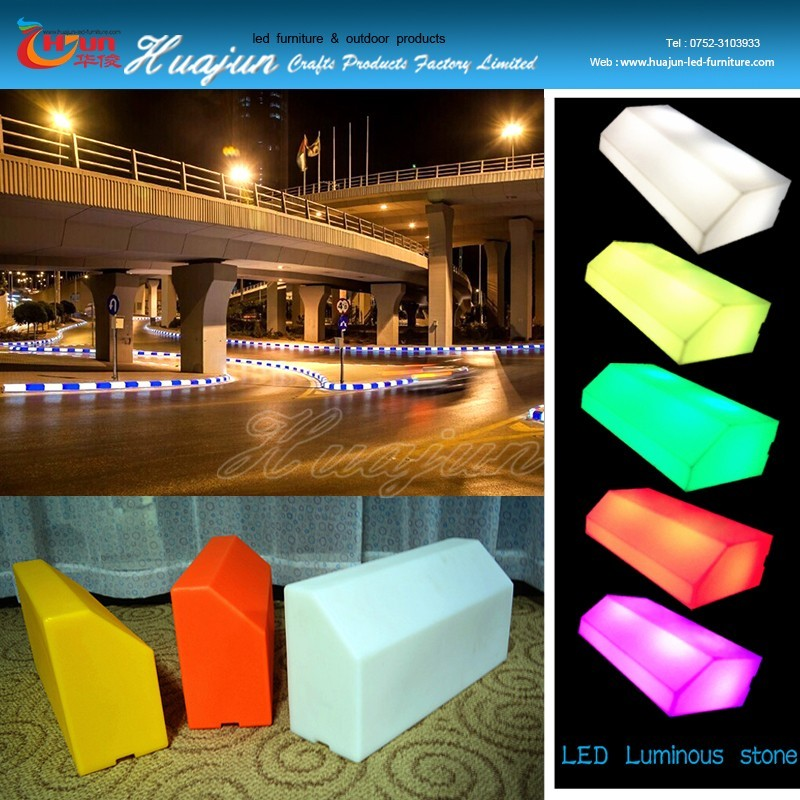 outdoor traffic curbstone lighting plastic curb stone pavement solar charge led Pavement Curbs 50*25 curbstone road kerb in UK