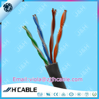 Best Price indoor 0.51mm solid/strand Bare Copper UTP lan cable cat5e 305M