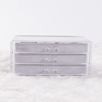 High quality acrylic jewelry organizer with 3 drawers