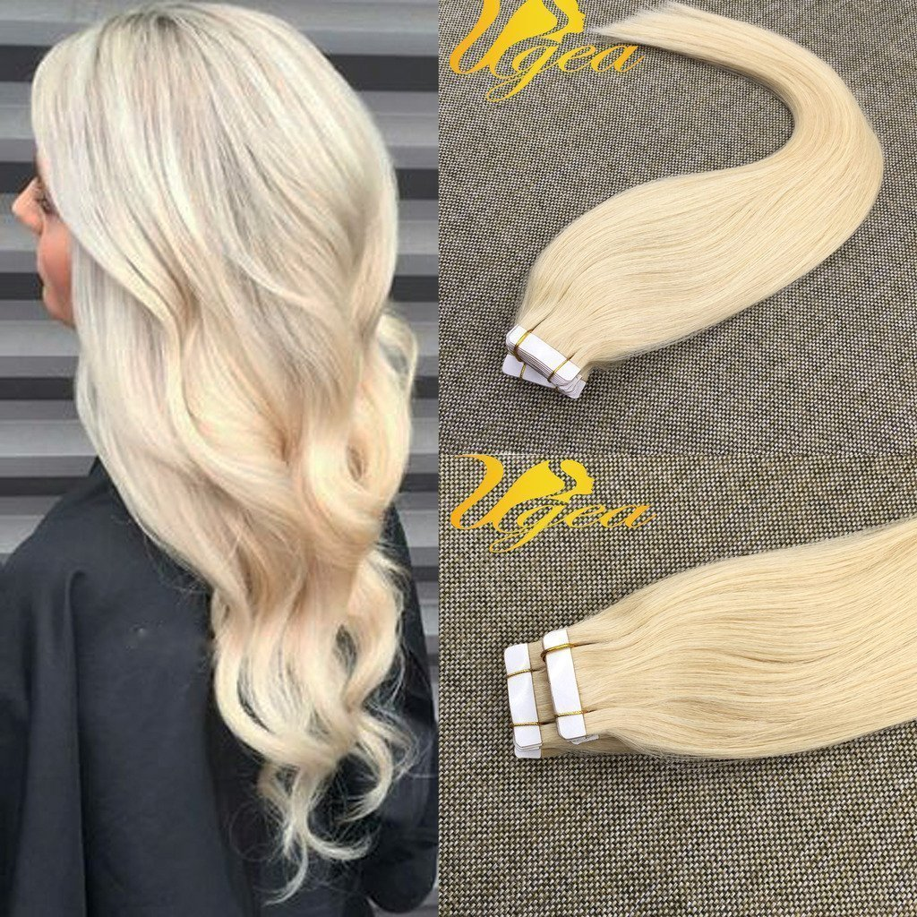 Buy Ugea 22 Inch Tape In Remy Hair Extensions Skin Weft Real Hair