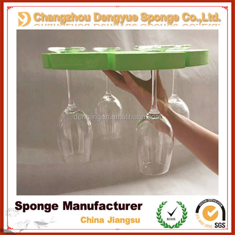 new style washable Champagne glass holder triangle cocktail holder