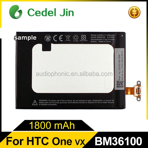 Lithium ion battery for HTC One VX PM36100 Totem C2 V8 BM36100 cell phone