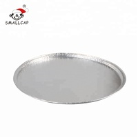 13 inch disposable aluminum foil pizza pan food serving trays take out tin foil food container PZ13 yysmallcap