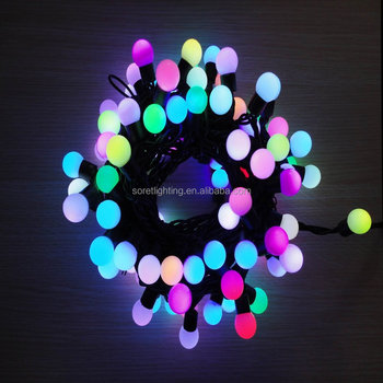 christmas holiday lighting waterproof led round ball string light outdoor globe string lights
