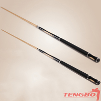 Wholesale high quality very straight maple TB-JY-6 cue case for center joint billiard cues